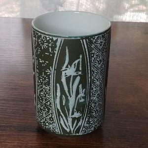 Olive Green Color Asian Tea Cup / Mini Vase